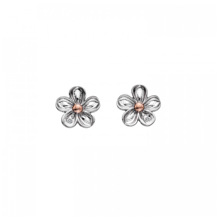 Hot Diamonds Forget Me Not Flower Stud Earrings - DE618