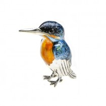 Sterling Silver Large Kingfisher By Saturno- A-12882-L