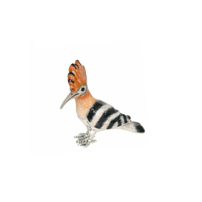 Saturno Sterling Silver Hoopoe By Saturno - Small - 13095S