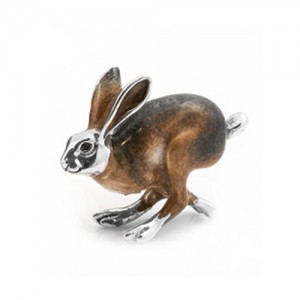 Sterling Silver Medium Running Hare By Saturno - A-11428-M