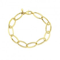 9ct Yellow Gold Large Oval Link Bracelet