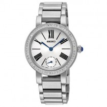 Seiko Stainless Steel Ladies Watch with Crystal Dial - SRK027P1