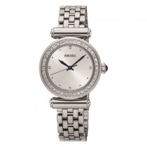 Seiko Stainless Steel Watch -Swarovski Crystal Dial - SRZ465P1
