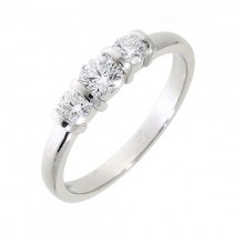 3 Stone Platinum Engagement Ring - 0.52ct - Macintyres of Edinburgh