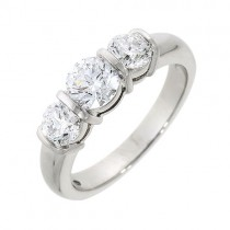 Platinum Three Stone Diamond Ring - 1.50cts