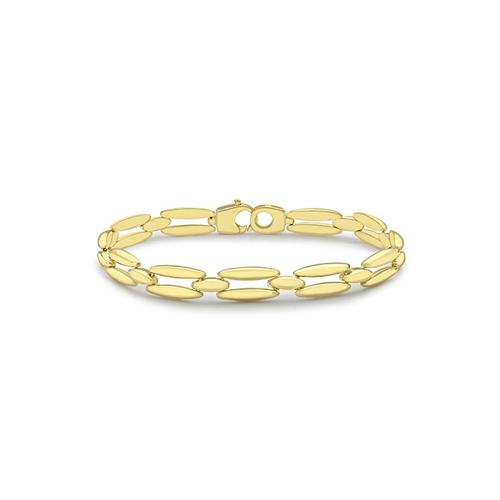 9ct Yellow Gold Fancy Cut Out Link Bracelet
