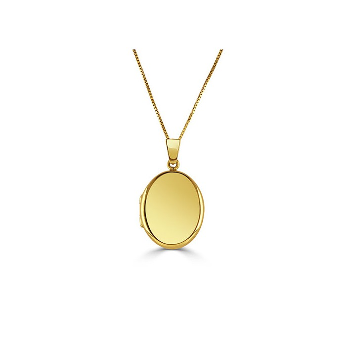 9ct Gold 20x16mm Plain Locket