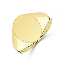 9ct Gold Gent's Large Oval Signet Ring - 12g