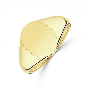 9ct Gold Gent's Oval Signet Ring - 6.2g