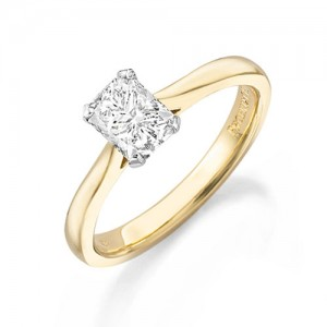 18ct Gold Phoenix Cut Daimond Solitaire Ring - 0.24ct D/LC