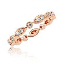 18ct Rose Gold Multi-stone Full Set Diamond Band - 0.35cts
