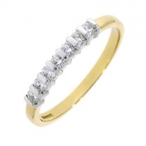18ct Gold 7st Diamond Eternity Ring - 0.27cts
