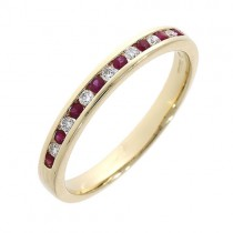 [Ruby Eternity Rings] 18ct Yellow Gold Diamond & Ruby Eternity Ring]