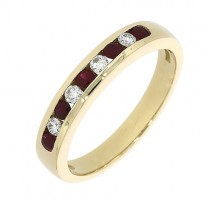 Ruby Eternity Ring - R:0.27ct D:0.12ct