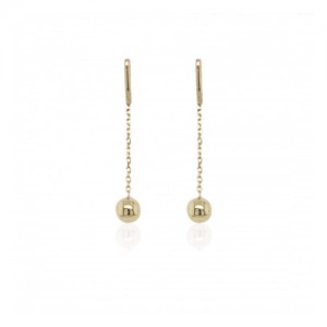 9ct Gold Ball & Chain Drop Earrings