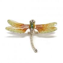 Saturno Sterling Silver & Enamel Dragonfly - Large - 12012L