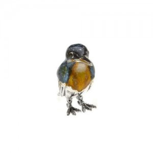 Saturno Sterling Silver & Enamel Kingfisher - Small - 12882S