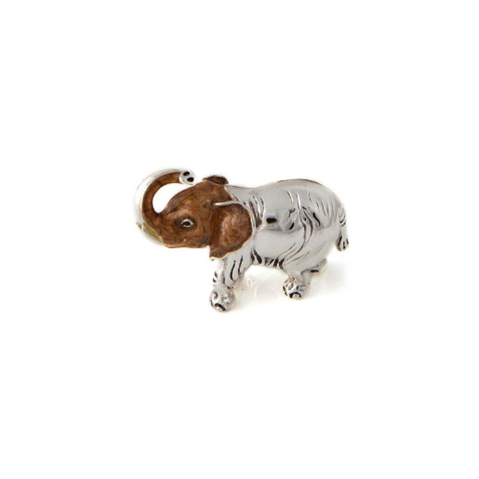 Saturno Sterling Silver & Enamel Hairy Elephant -Small - 11427S