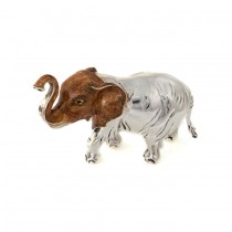 Saturno Sterling Silver & Enamel Hairy Elephant - Large - 11427L