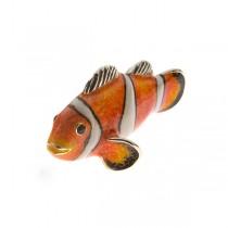 Saturno Sterling Silver & Enamel Clown Fish - Medium - 12923M