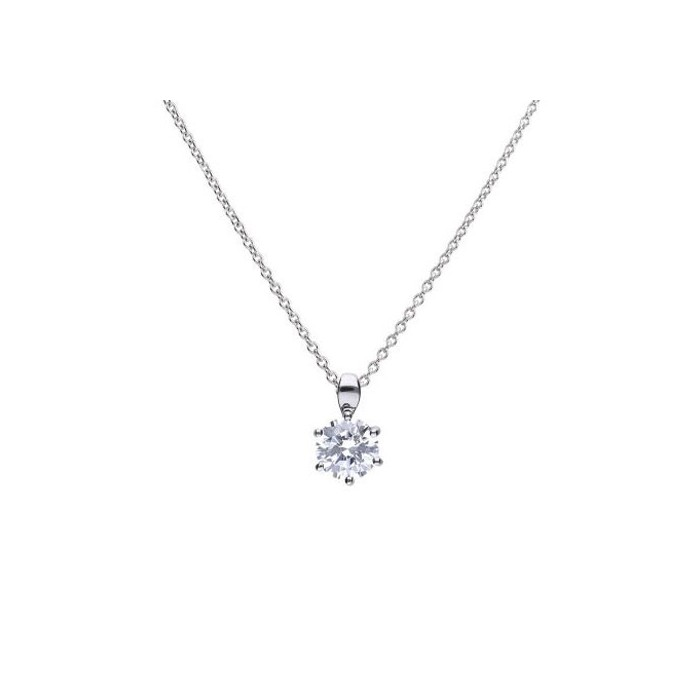 Diamonfire Sterling Silver Cubic Zirconia Pendant 1.50ct