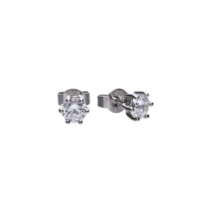 Diamonfire Sterling Silver Cubic Zirconia Earrings 1.00cts