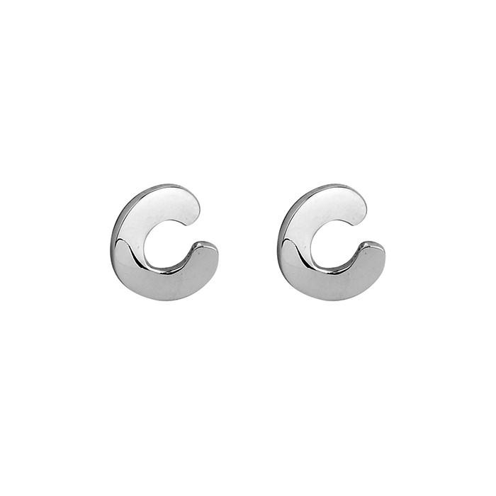Tianguis Jackson Silver Open C Stud  Earring - CE1606