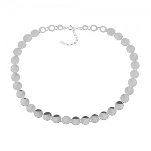 Tianguis Jackson Silver Disk Link Necklace - CN0811