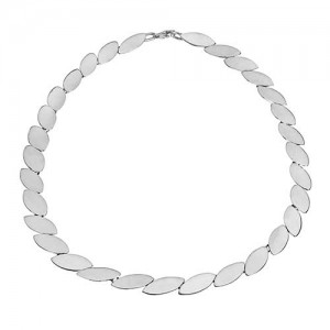 """Tianguis Jackson Oval Links Silver Necklace - 17""""- CN0667"""