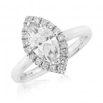Marquise Cut Engagement Ring in Platinum - 1.00ct