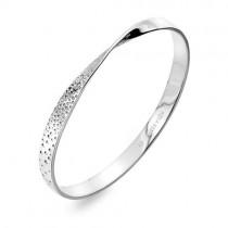 Hot Diamonds Quest Twist Sterling Silver Bangle - DC168