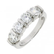 Platinum 4st Diamond Eternity Ring - 2.04cts