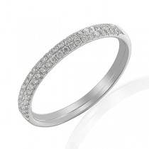 Double Row Platinum Diamond Wedding Band [Save up to 40% off high street prices]