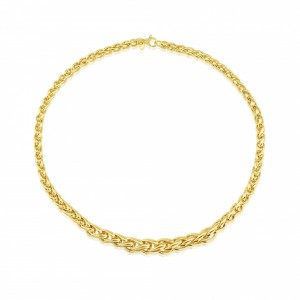 "9ct Yellow Gold Palmier 18""Necklace"