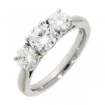Platinum 3 Stone Diamond Ring - 1.52cts