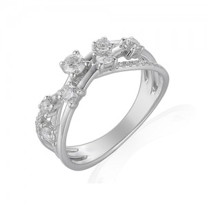 Platinum Diamond Dress Ring -  0.53cts