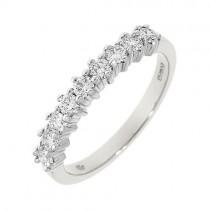 Platinum 9 Stone Diamond Eternity Ring - 0.45ct