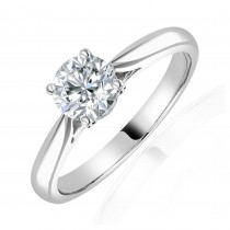 Platinum Diamond Solitaire Ring - 0.80cts E/VS2