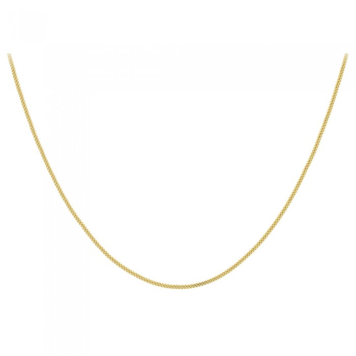 "18ct Yellow Gold 16""Diamond Cut Curb Chain"