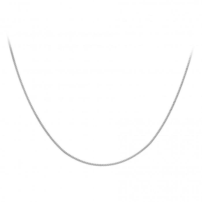 """18ct White Gold 16""""Diamond Cut Curb Chain"""