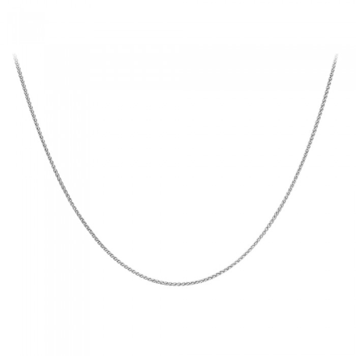 "18ct White Gold 16""Spiga Chain."