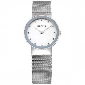 Bering Classic Ladies Polished Silver Watch - 10126-000