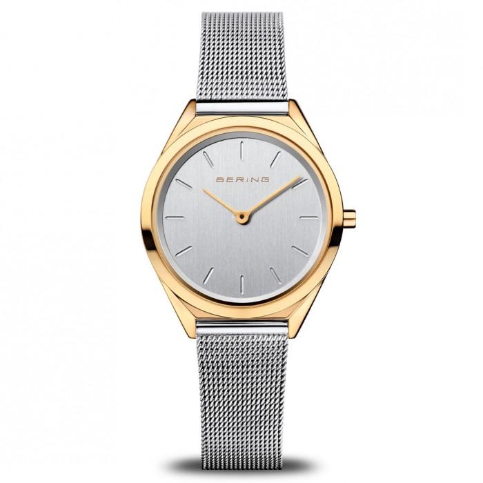 Bering Ultra Slim Ladies Mesh Bracelet Watch - 17021-010