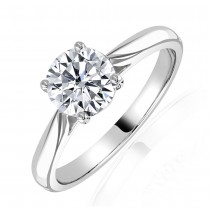 Certified Diamond 1.20ct H Colour Solitaire Ring in Platinum