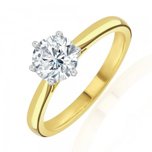 18ct Gold Diamond Solitaire Ring - 1.01cts G/VS2