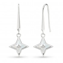 Kit Heath Astoria Mother of Pearl & CZ Star Drop Earrings 50415MPC