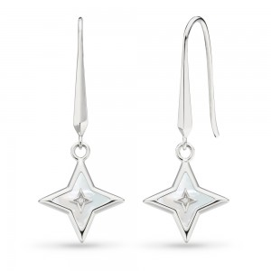 Kit Heath Empire Astoria Mother of Pearl & CZ Star Earrings