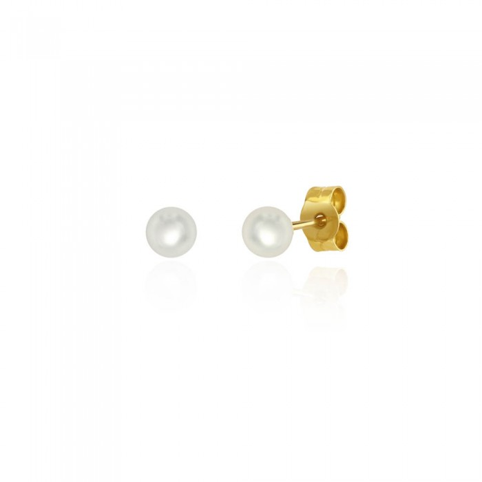 18ct Yellow Gold Cultured Pearl Stud Earrings - 4.0 - 4.5mm