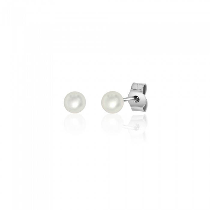 18ct White Gold Cultured Pearl Stud Earrings  - 4.0 - 4.5mm