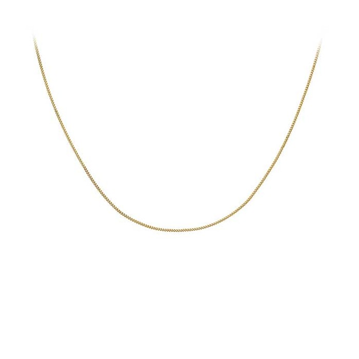 9ct Gold 16 to 18 Inch Adjustable Curb Chain